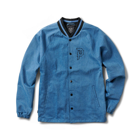 RICK DENIM VARSITY JACKET