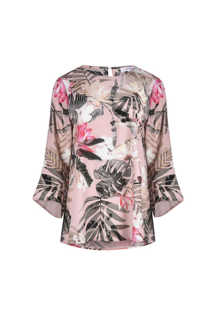 Top - Summer Tropical Flounce SLV by JUMP