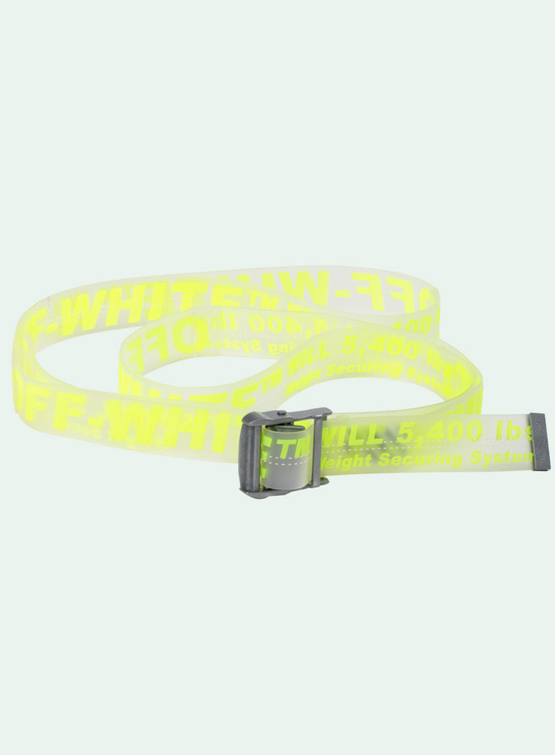 OFF-WHITE | Yellow/Clear Rubber Industrial Belt