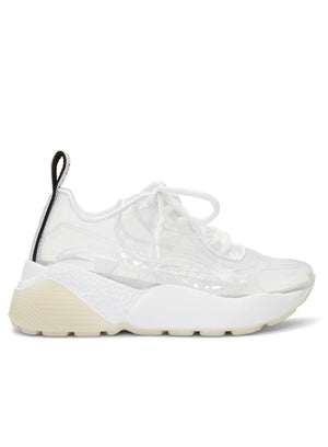 STELLA MCCARTNEY | White & Transparent Eclypse Sneakers