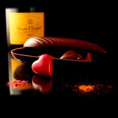 Champagne-Raspberry Heart - BE Chocolat