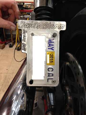 BRG's Custom License plate holder