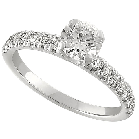 classic engagement rings, open diamond engagement rings