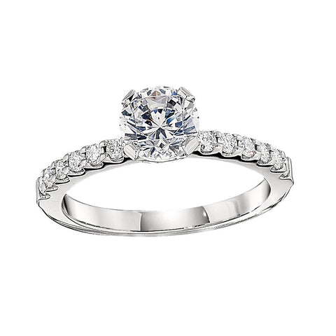 classic engagement ring settings, diamond band engagement rings, engagement ring with matching wedding bands