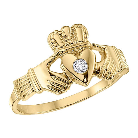 Claddagh Ring, Diamond Claddagh Ring, Celtic Jewelry