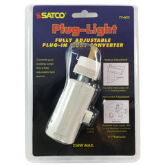 SATCO One Light Plug-A-Light - Outlet to Medium Socket Adapter