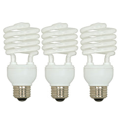Satco S6271 18W T2 Ultra Mini Spirals Screw-In 2700K fluorescent bulb 3 Pack