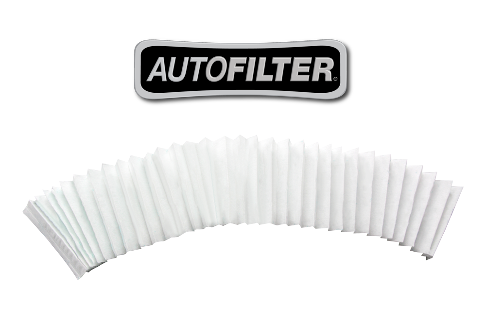 The AutoFilter Filter Pack includes 50 filters for the AutoFilter oil filtration system. Each microfilter is made of a pulp, cellulose material folded 30 times, providing 96 layers for oil to filter through.