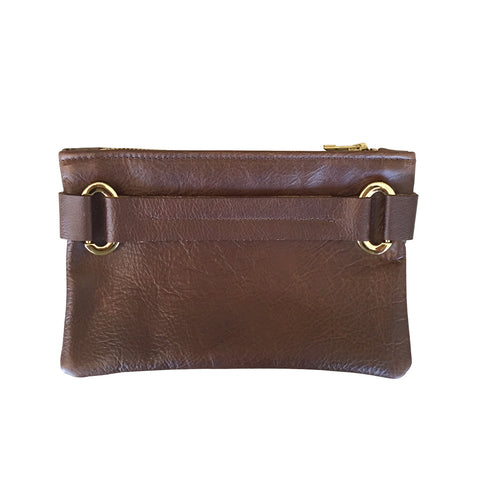 Wrist Strap Clutch // Brown