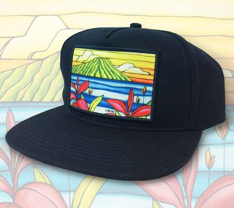 Daydreams of Diamond Head Patch Hat by Heather Brown