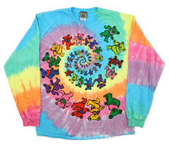 Grateful Dead Spiral Bears Long Sleeve Tie Dye T Shirt