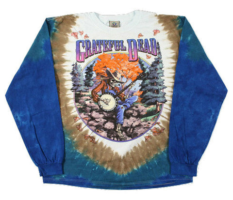 Grateful Dead - Banjo - Long Sleeve Tie Dye T Shirt