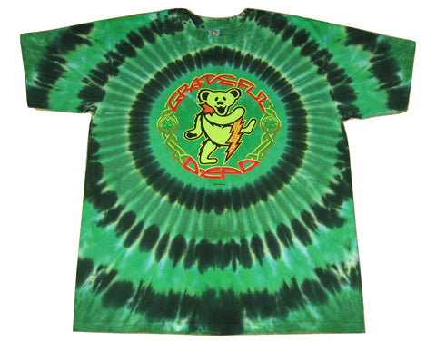 Grateful Dead Celtic Dancing Bear Short Sleeve Tie Dye T Shirt