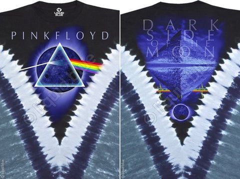 Pink Floyd - Dark Side The Moon Tie Dye V T Shirt