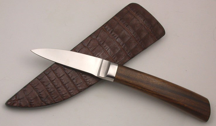 2.5 inch Persona Cobalt with Brown Croc Sheath.