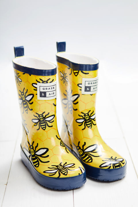 GRASS & AIR - Infant Wellies Bee Yellow