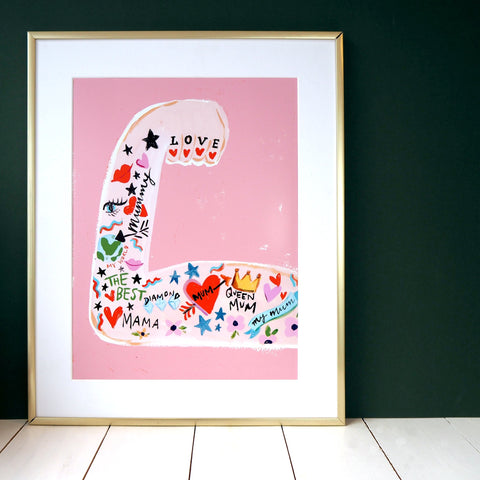 Eleanor Bowmer: Mum Strong Arm Print (A4 and A5)