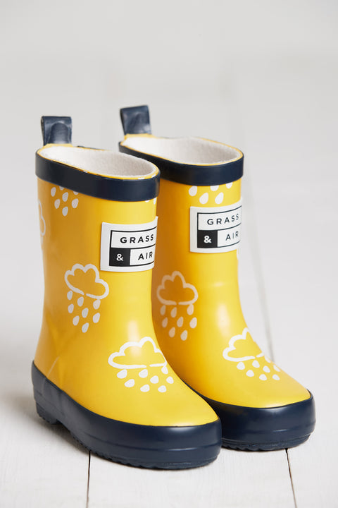 GRASS & AIR - Infant Colour Changing Wellies Yellow