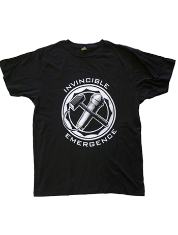 "Invincible / Emergence ""mic X hammer"" t-shirt"