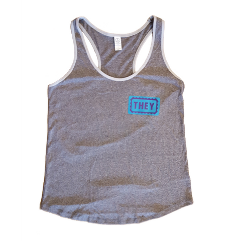 They/Them Fitted Tank Top