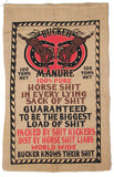 BUCKER HORSE SHIT MANURE BURLAP BAG ( sold by the piece )