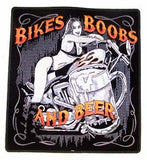 BIKES BOOBS BEER JUMBO PATCH (Sold by the piece)