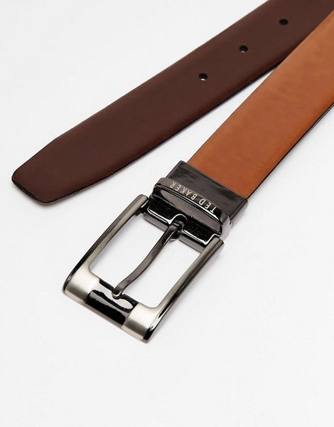 Ted Baker Reversible Leather Belt- Tan/Brown