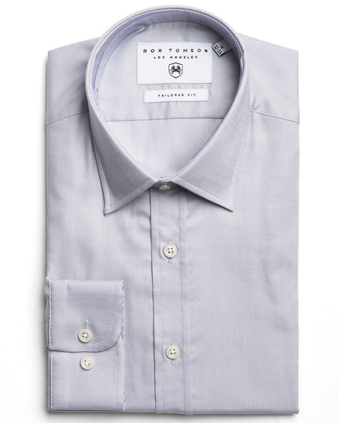 Italian Collar Dress Shirt- Grey