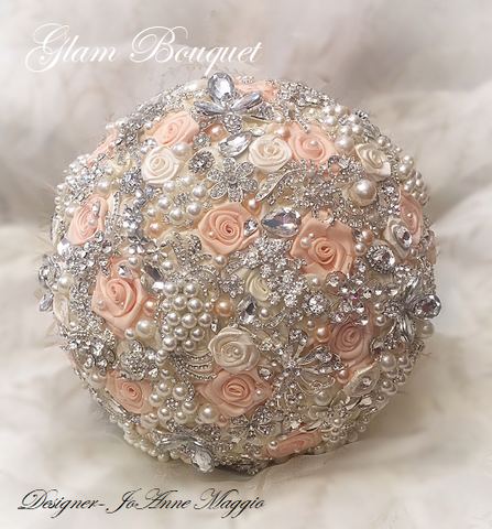 Custom Jeweled Wedding Bouquet $465.00