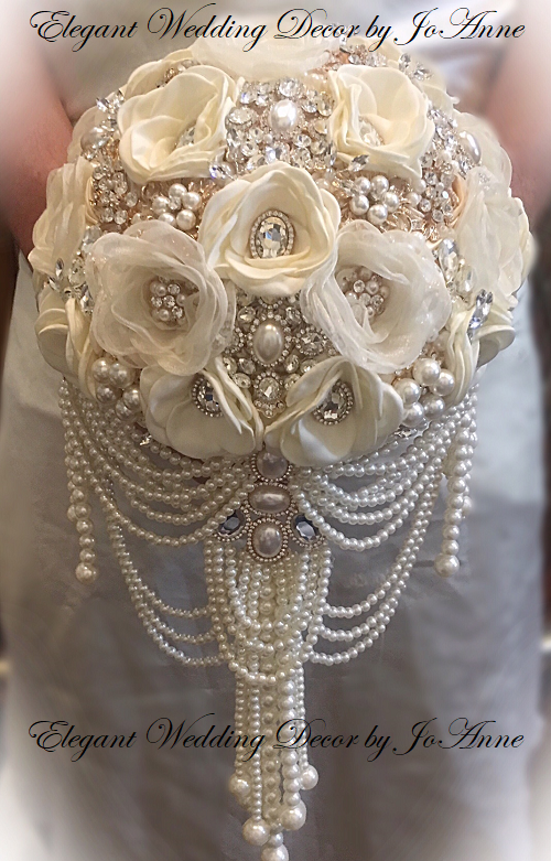 Vintage Ivory Pearl Brooch Bouquet -  $565.00