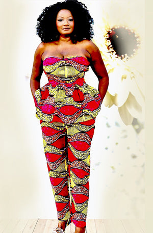 Meme African Print Pant  And Top Set
