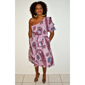 Oversize Boho one Sleeve Dress - Zabba Designs African Clothing Store