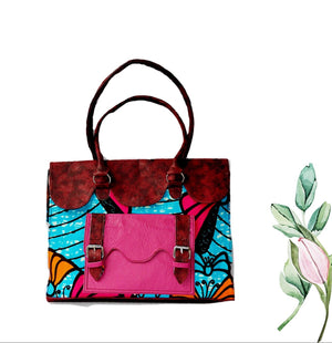 African Print Purse, The Nimba Tote Bag - Zabba Designs African Clothing Store