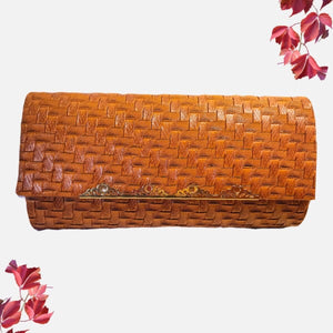 Camilla Trendy African Maasai Clutch Brown - Zabba Designs African Clothing Store