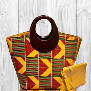 SISSY Kente African Fashion Tote Bag
