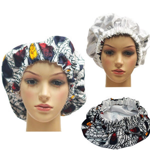 White And Blue Adult Ankara Bonnet - Zabba Designs African Clothing Store