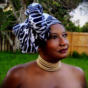 African Print Headwrap THE AFRICANA - Zabba Designs African Clothing Store