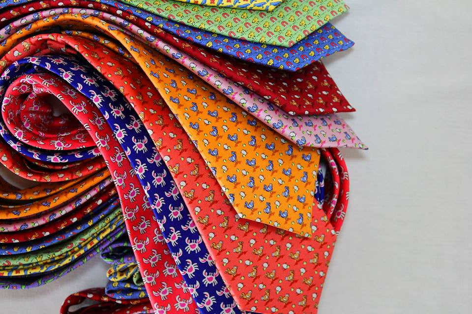 Luxurious Animal Motif Silk Ties