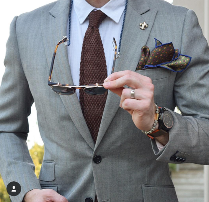 Brown Knit Silk Tie
