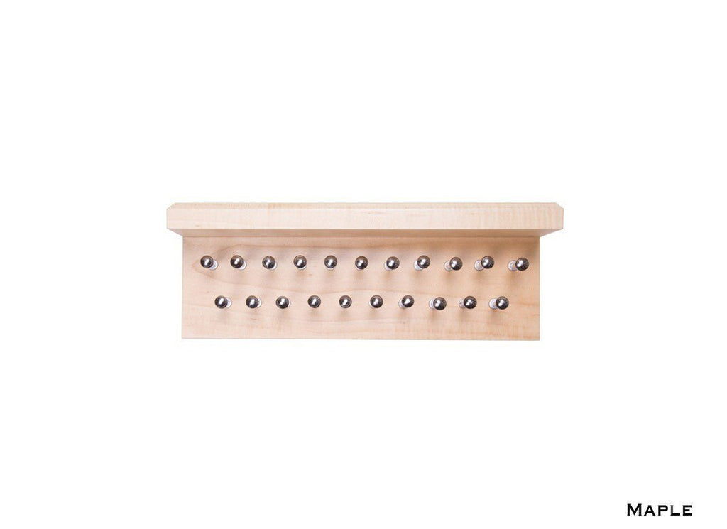 Maple Tie Rack with Shelf
