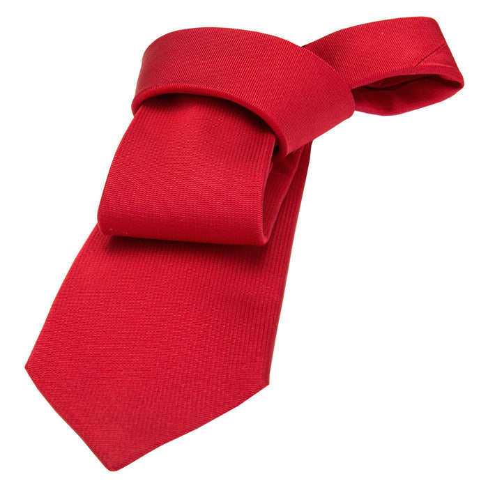 Solid Red Silk Tie