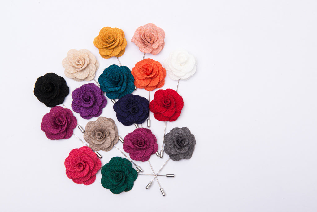 The Dark Knot lapel flowers