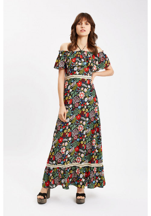Dancing In The Sun Floral Maxi Dress