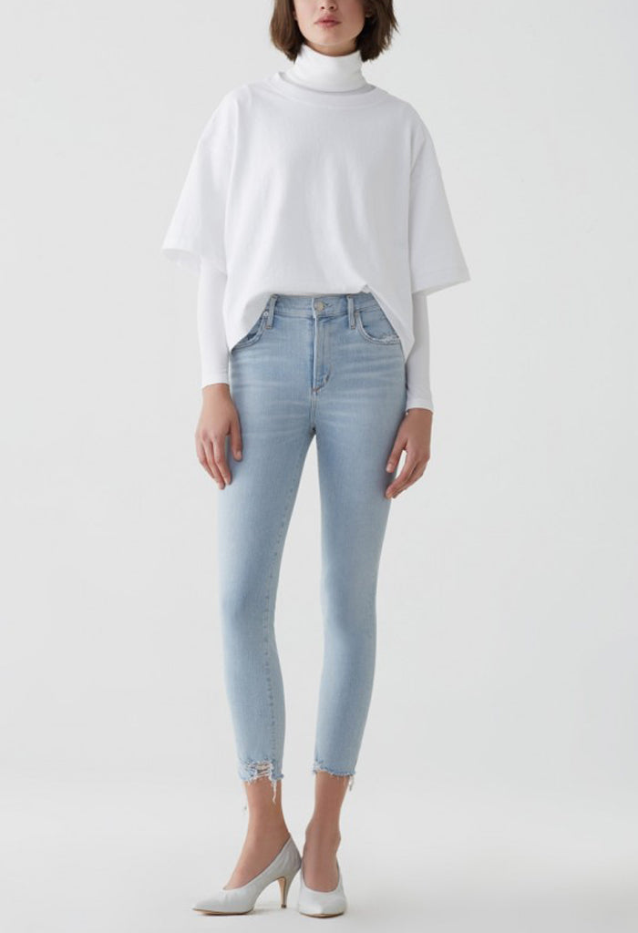 SOPHIE HI RISE SKINNY CROP IN PARALLEL