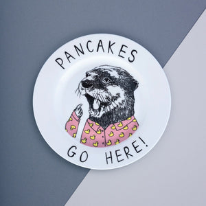 Otter Pancakes Side Plate
