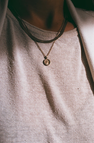 Mini Coin Pendant Necklace