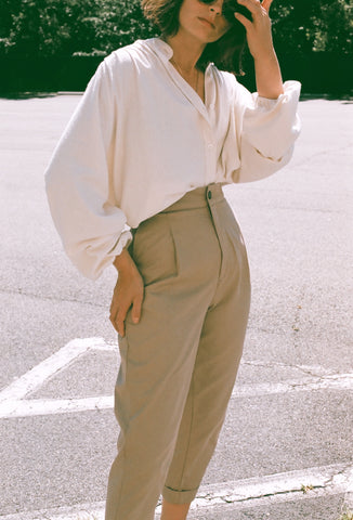 Na Nin Oliver Pant : Cotton Twill / Available in Multiple Colors