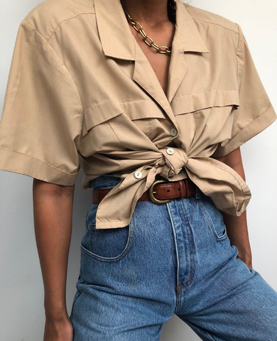 Vintage Sand Button Up
