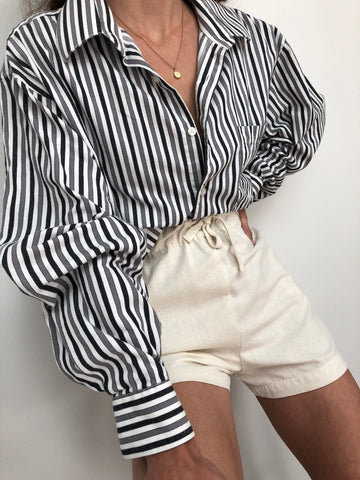 Vintage Striped Flannel Button Up