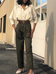 Na Nin Cotton Townes Trouser / Available in Olive, Midnight, and Khaki
